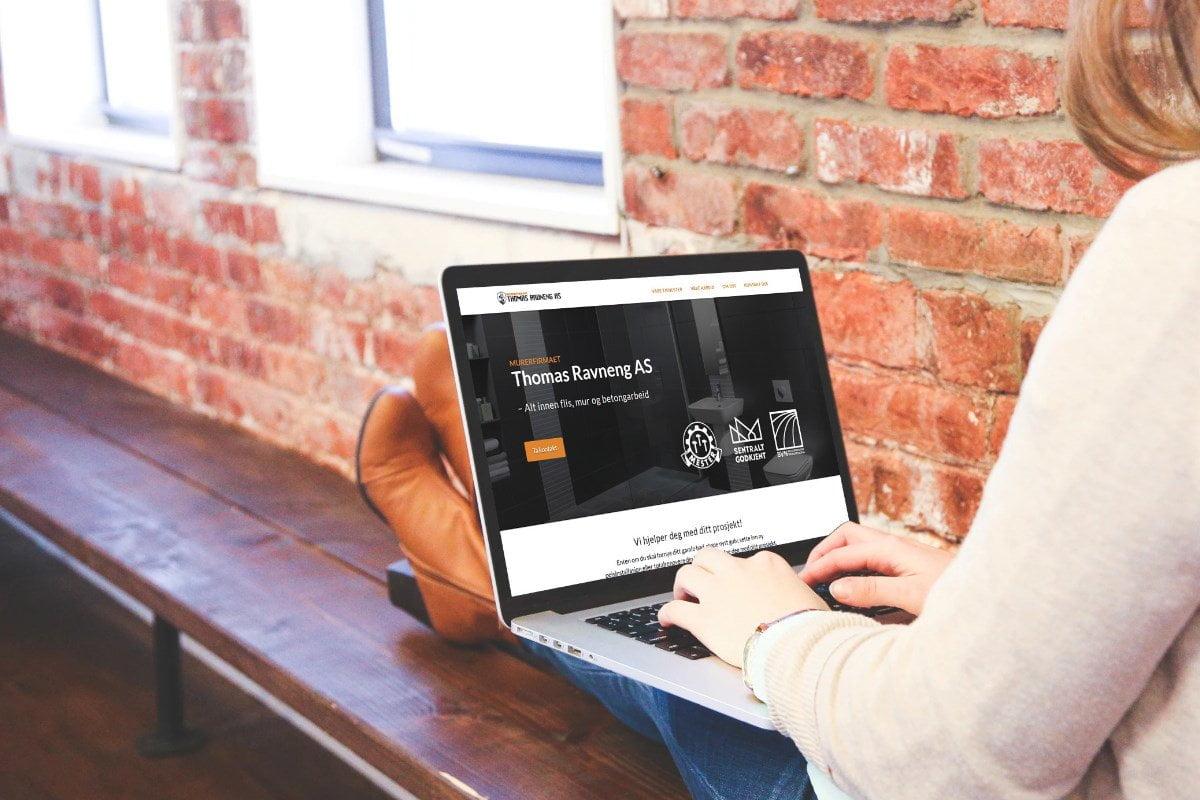 Hjemmeside for murerfirma